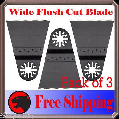 3 Flush Cut Oscillating Multitool Saw Blades For Ryobi Jobmax Fein Multimaster