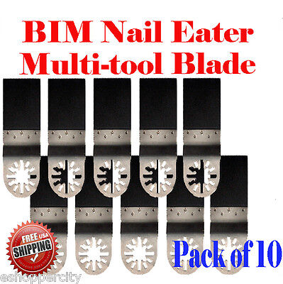 10 Nail Eater Oscillating Multi Tool Saw Blade For Ridgid Ryobi Craftsman Jobmax