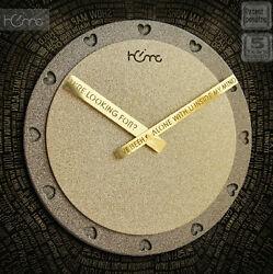 Modern Design Clock Highend Creative Home Deco Fashion Wooden Wall Clock---Hello