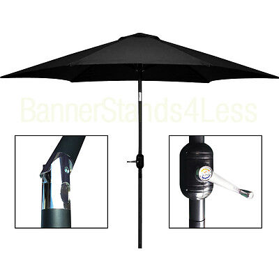 10 ft Aluminum Outdoor Patio Umbrella Market ...