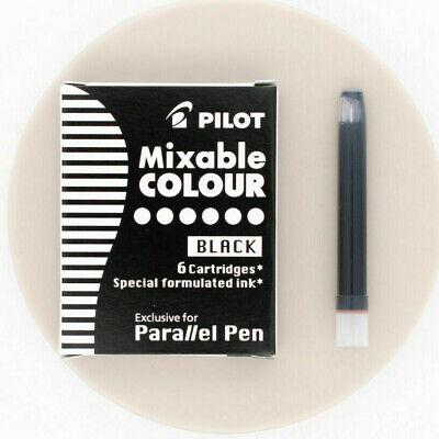 Pilot Parallel Pen Calligraphy Mixable Colour Refill 2 Packs 6 Black Cartridge
