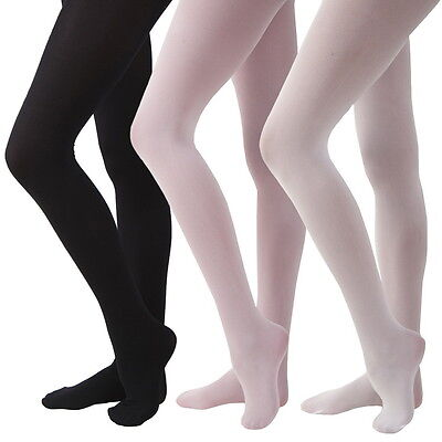 GIRLS/LADIES BALLET TIGHTS DANCE TIGHTS 30 DENIER PINK BLACK WHITE