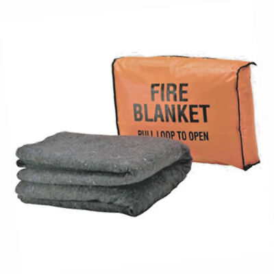 Fire Blanket Bag - 650204br 17x12x4 W Mounting Holes Brass Grommets New