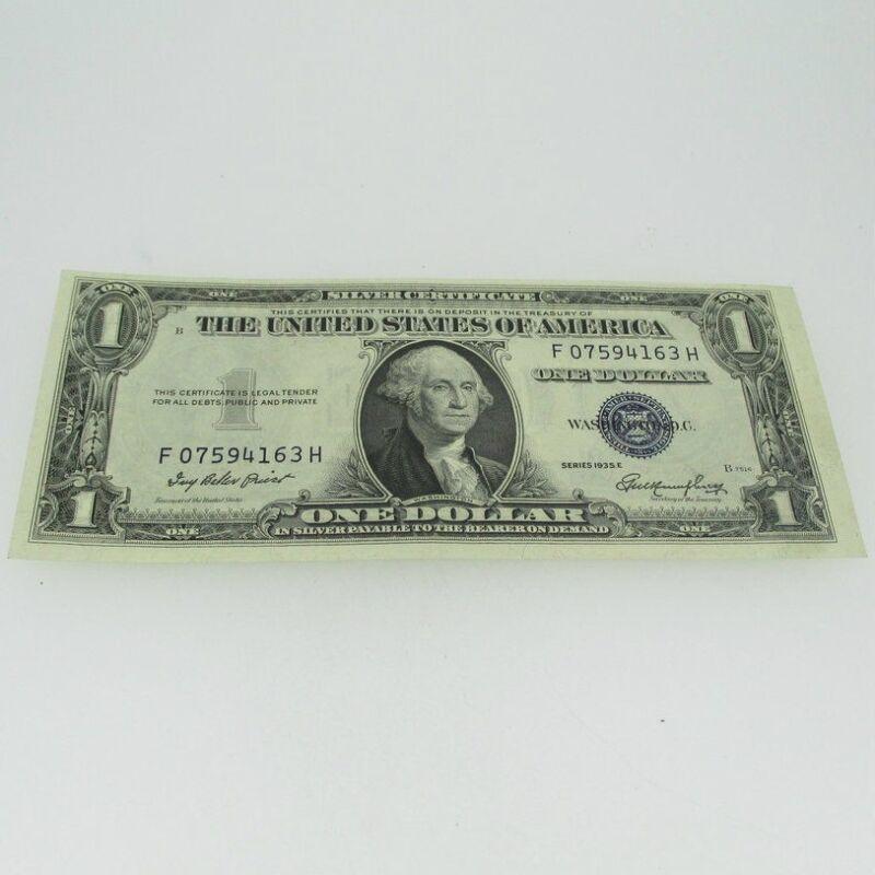 1935 E Silver Certificate United States 1 Dollar Bill One Dollar 600714