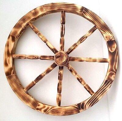 80 cm Decorative Garden Cartwheel Ornamental Wooden Cart Wagon Wheels