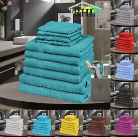 2000+ BRAND NEW 500GSM EGYPTIAN COTTON 10PC TOWEL BALE SETS. WHOLESALE JOBLOT.