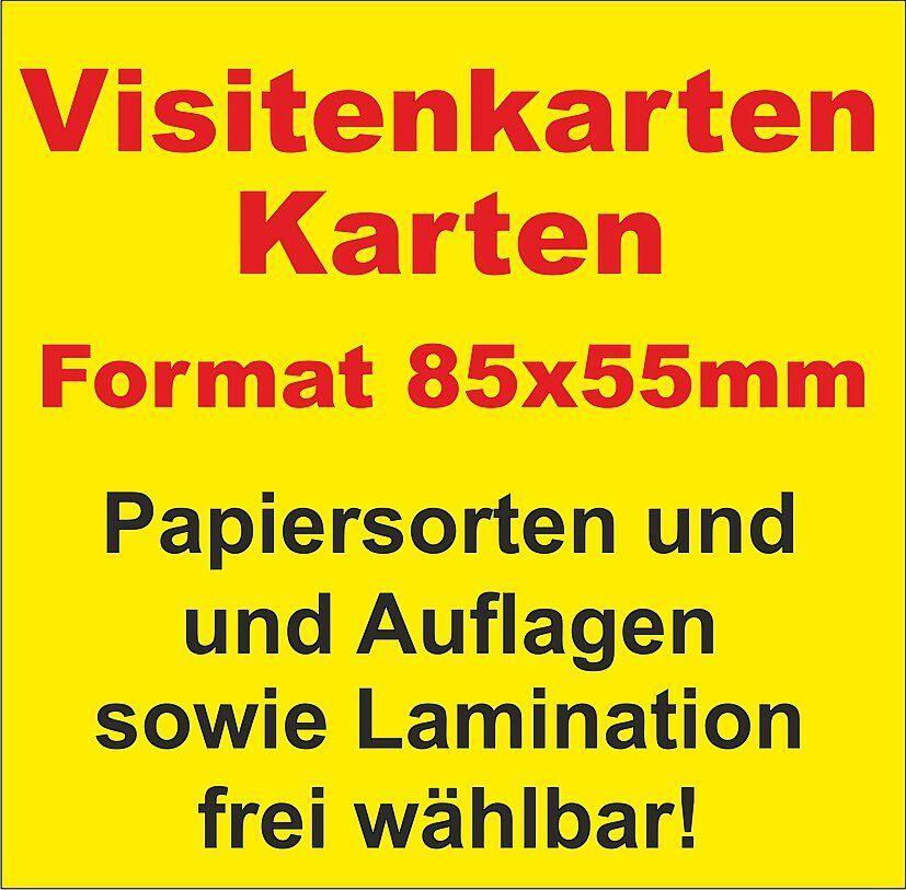 Visitenkarten - AUFLAGE + PAPIERSTÄRKE und Laminierung frei wählbar!