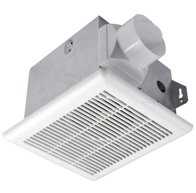 Hampton Bay 70 CFM Bathroom Vent Fan No Cut Wall/Ceiling Mount Exhaust Bath Fan