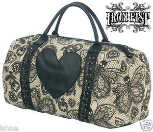 IRON-FIST-LOVELACE-LOVE-LACE-WOMENS-OVERNIGHT-HANDBAG-BAG-NEW-WITH-TAGS