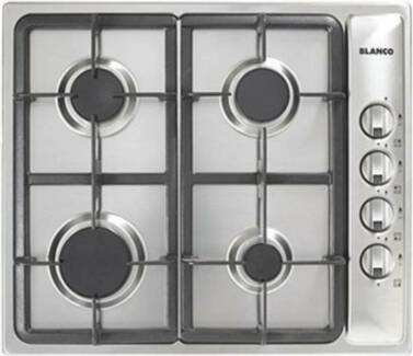 BLANCO 60cm STAINLESS STEEL SQUARELINE GAS COOKTOP - BRAND NEW -