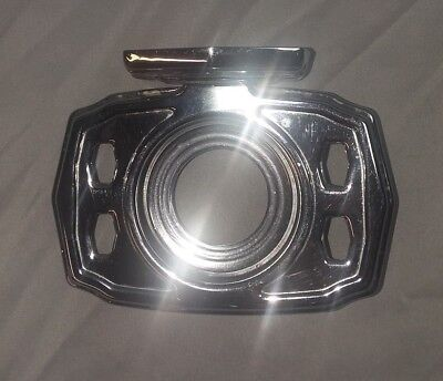 Vtg Chrome Wall Mount Toothbrush Cup Holder Old Bathroom Fixture 138-18F