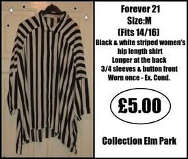 *** FOREVER 21 LONG SHIRT/TOP - Size:M (Approx. 14/16) ***