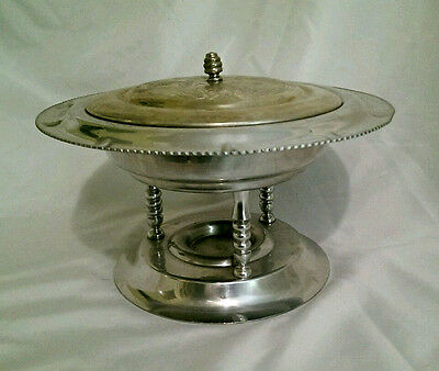 Vintage Aluminum Chafing Dish With Pine Cone and Wild Rose Design Free Shipping (Aluminum Chafing Dishes)