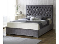 *FREE UK DELIVERY* Chelsea Velvet Fabric Luxury Ottoman Storage Bed Frame - EXCLUSIVE
