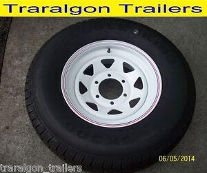 wheel tyre package 235/75/15 6 stud 8 ply suit landcruiser, patrol, trailer WH6