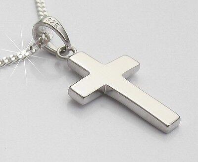 Damen Kinder Männer Schmuck Kreuzanhänger Echt Silber mit Kette Kreuz Anhänger