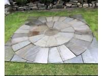 Kandla grey Indian Flagstones, stone circle