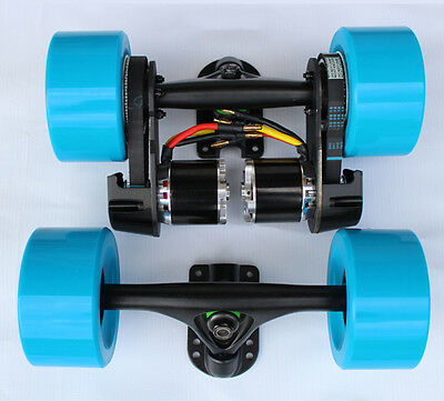 "DIY dual 1500W electric longboard parts kit 97MM wheel 7""truck dual N5055 270KV"