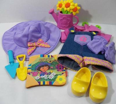 ~Fisher Price~ Dora The Explorer Dress Up Adventure Doll Garden Outfit - Dress Up Adventure Dora Doll
