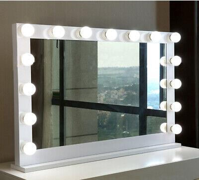 XLarge Hollywood Mirror LED Light Up Globe Lights Mirrored Frame - Makeup Mirror