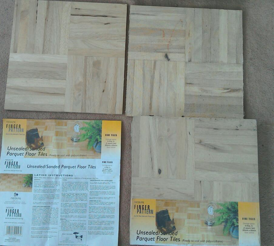 Parquet Finger Pattern Hard Wood Floor Tiles In Chippenham