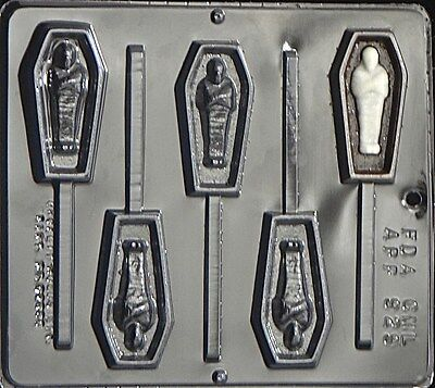 Coffin with Mummy Lollipop Chocolate Candy Mold Halloween  929 NEW (Halloween Mummy Coffin)
