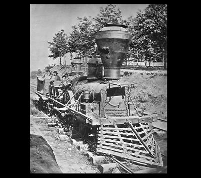 The General PHOTO, GREAT LOCOMOTIVE CHASE,1862,Civil War Confederate Rebel Train