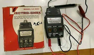 Vintage Lumidor Products Lectro-chek Model Lc-300 Electric Tester Tool Volts