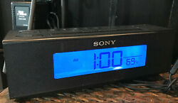 Sony ICF-C707 Nature Sounds AM/FM Clock Radio Rectangular Cube 7.5 L  x 2 Sq