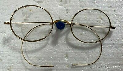 ENGLISH ANTIQUE VICTORIAN GOLD READING GLASSES SPECTACLES STEVENS & CO (Victorian Reading Glasses)