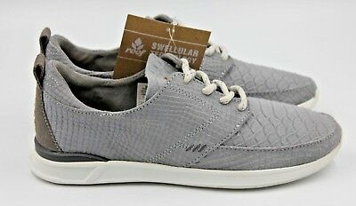 REEF Rover Low LX Women's Casual Fashion Sneaker - Grey/Snake - NEW Authentic Reef Snake