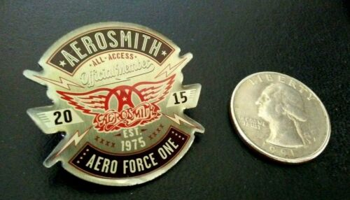 Aerosmith 2015 All Access Official Member Aero Force One Est 1975 Lapel Pin