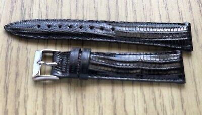 NEW GENUINE HAMILTON TEJU LIZARD 20R 20mm STRAP PADDED WATCH BAND Black
