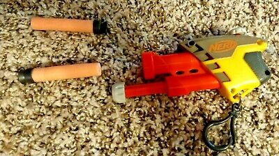 Nerf gun Keychain Small Mini Sized Orange Yellow