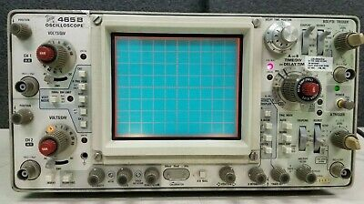 Tektronix 465b Two Channel Oscilloscope 100mhz Power On J-1