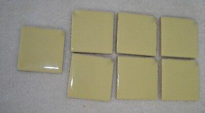 vtg ceramic tile new unused bathroom /kitchen/ craft/ mosaic/ lemon yellow