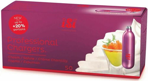 50 whip cream chargers whipped  Genuine iSi from Austria  EU  8g N  1 box of 50