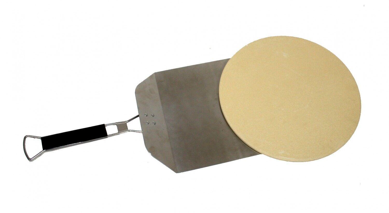 Wagner Pizzaofen Set aus Edelstahl für Ø 57 cm Kugelgrill BBQ Pizzastein PS 57