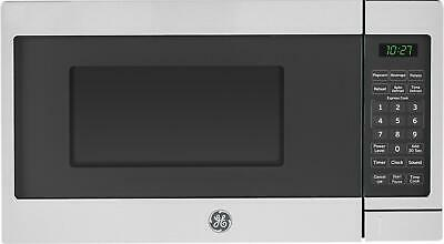 Ge - 0.7 Cu. Ft. Compact Microwave - Stainless-steel/black