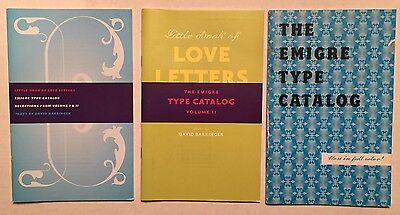"Emigre Type Catalog & ""Love Letters"" Type Specimen books"