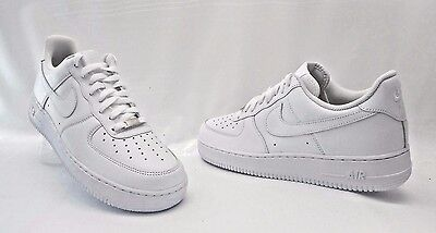 Nike Air Force 1 Low Basketball Sneakers Leather White Mens Size 7.5 FMWOB!