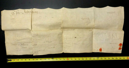 1786 Indenture / DEED for Land in Lancaster Co., Pennsylvania w/ 3 RED Wax STAMP