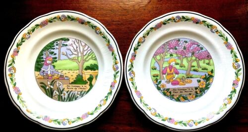 "Two of Vtg GIEN France Trois Saisons Salad Plate MARIE PIERRE BOITARD  7 6/8"""