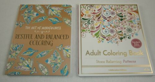 LOT ART OF MINDFULNESS & STRESS RELIEVING PATTERNS ADULT COLORING BOOKS THERAPY