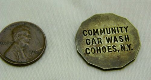 Vintage 12 Sided Cohoes Community Car Wash Token