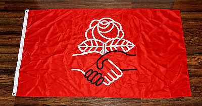 Democratic Socialists of America Flag Bernie Sanders DSA Red Banner Sign New