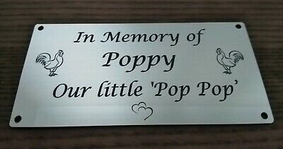 Personalised Pet Dog any pet Memorial Plaque grave marker Engraved 100 X 60mm
