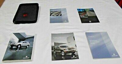 2002 MERCURY MOUNTAINEER OWNER MANUAL 6/PC.SET & MERCURY ZIPPERED FACTORY CASE 2002 Mercury Mountaineer Manual