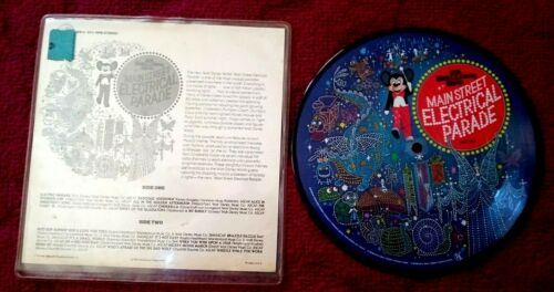 """Disney World MAIN STREET ELECTRICAL PARADE 7"""" Record 1977 Picture Disc 331/3 RPM"""