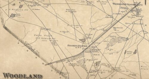 Woodland Chatsworth Woodmansie Sooy Place NJ 1876  Map Homeowners Names Shown